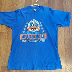 Mens XL Edmonton Oilers 1990 Tee XL
